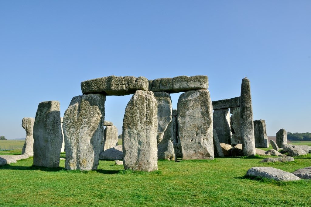 Picture taken of old English Heritage site Stone Henge on a sunny day.